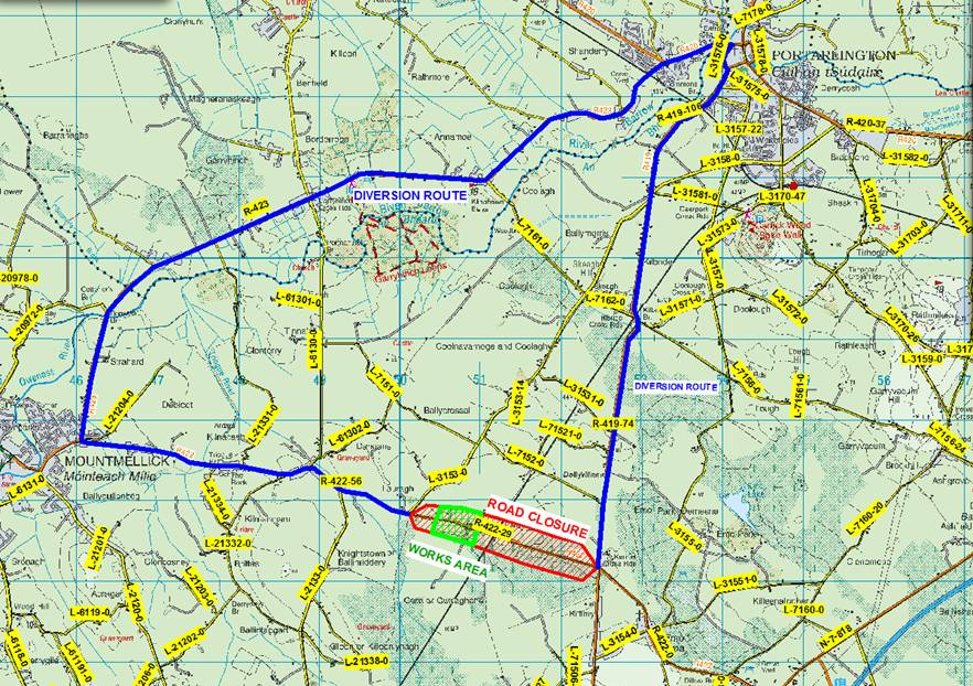 Temporary Road Closure – Kennels Cross Road to Mountmellick