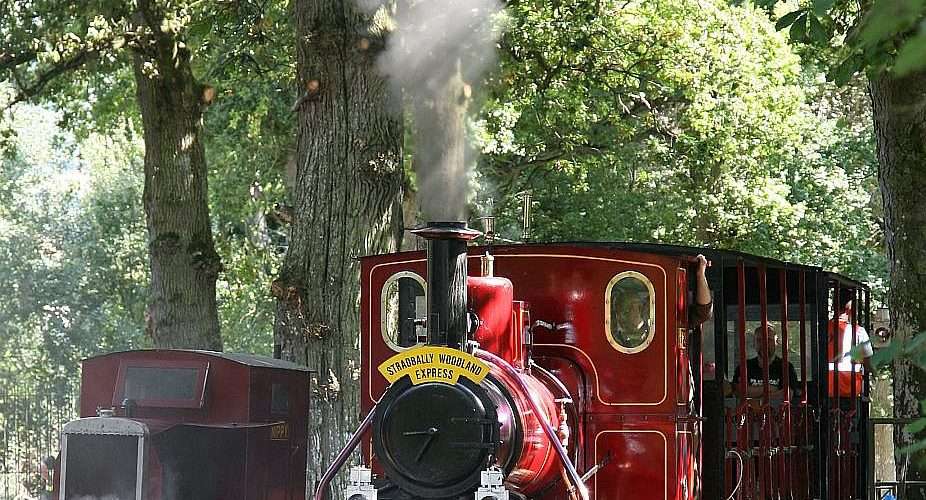 The Stradbally Woodland Express Steam Train , in full Steam on Sunday last -as part of Heritage Week. Photo : Michael Scully -No Reproduction Fee.
